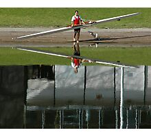 Rower Reflection 1 Photographic Print