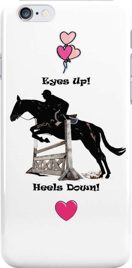 Eyes Up! Heels Down! Horse iPhone & iPod Cases by Patricia Barmatz