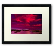 """Candy Floss Sunset"" Framed Print"