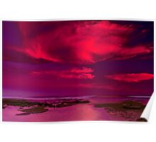 """Candy Floss Sunset"" Poster"