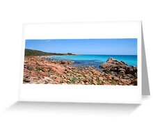 Eagle Bay Panorama with a little Dry Brush added Greeting Card