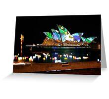 Vivid Sydney, Australia Greeting Card
