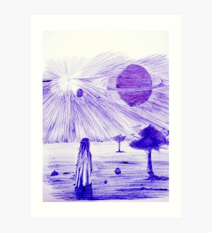 Backyard Astronomy Art Print