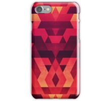 Abstract  geometric triangle texture pattern design in diabolic future red iPhone Case/Skin