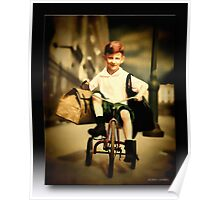 The Little Red Tricycle Poster