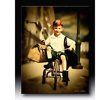 The Little Red Tricycle Photographic Print