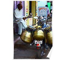 Milk delivery? Bundi, India Poster