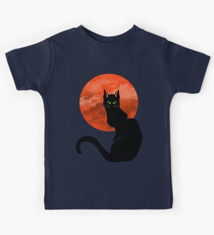 RED MOON CAT Kids Tee
