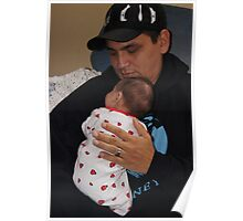 Snuggling with Daddy Poster