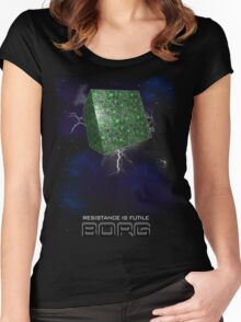 RESISTANCE IS FUTILE Women's Fitted Scoop T-Shirt