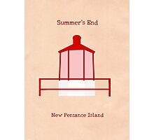 Welcome to Summer's End Photographic Print