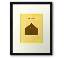 Welcome to Camp Ivanhoe Framed Print