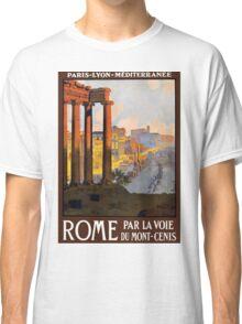 Rome Vintage Travel Advertisement Classic T-Shirt
