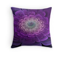 Purple Bloom Throw Pillow