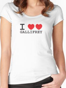 I Heart Heart Gallifrey Women's Fitted Scoop T-Shirt