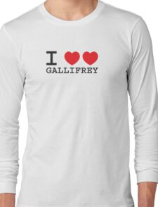 I Heart Heart Gallifrey Long Sleeve T-Shirt