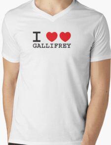 I Heart Heart Gallifrey Mens V-Neck T-Shirt