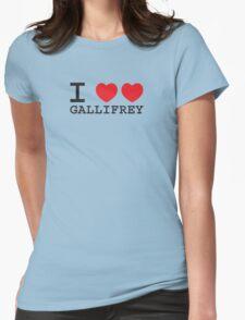 I Heart Heart Gallifrey Womens Fitted T-Shirt