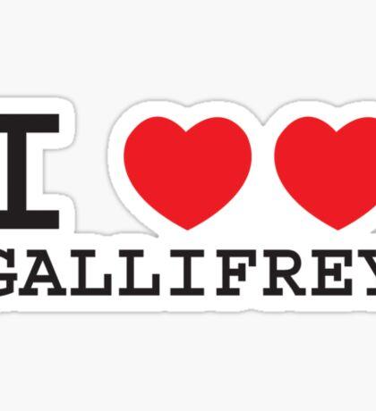 I Heart Heart Gallifrey Sticker