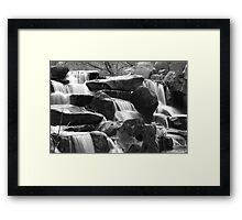 Virginia Water falls Framed Print