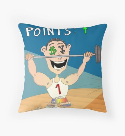 Binary Options News Cartoon USD JPY Outlook Throw Pillow