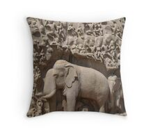 Relief work - Mahabalipuram ( Chennai/Madras) Throw Pillow