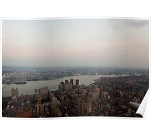 the Hudson River Skyline Poster