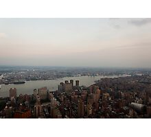 the Hudson River Skyline Photographic Print