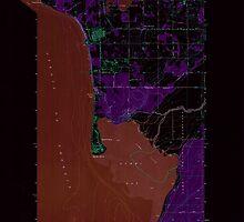 USGS Topo Map Washington State WA Lummi Bay 242095 1952 24000 Inverted by wetdryvac