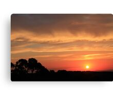Sunset on Mount Canobolas Canvas Print
