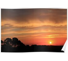 Sunset on Mount Canobolas Poster