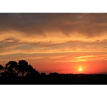 Sunset on Mount Canobolas Photographic Print