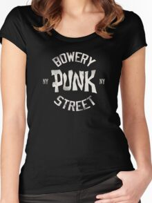 Bowery Punk Street Women's Fitted Scoop T-Shirt