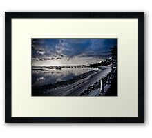 Deserted beach at dawn Framed Print