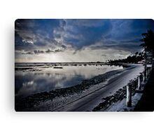 Deserted beach at dawn Canvas Print