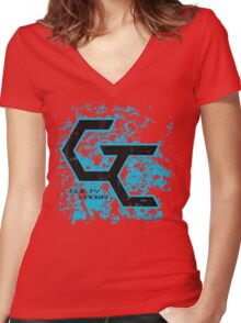 Guilty Crown Grunge  Women's Fitted V-Neck T-Shirt