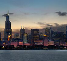 Chicago Skyline by sanzphotos