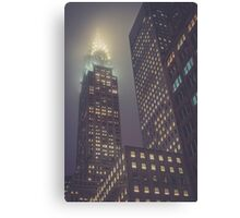 Chrysler at Night, Study 1 Canvas Print