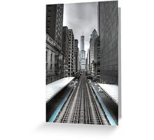 Trumped Tracks. Greeting Card
