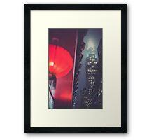 Chrysler at Night, Study 2 Framed Print