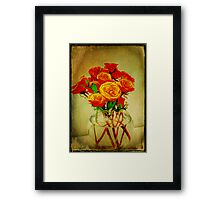 Roses and Textures Framed Print