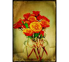 Roses and Textures Photographic Print