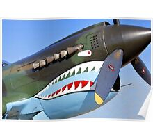 P 40 Warhawk, Flying Tiger Poster