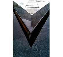 'V' from LouVre Photographic Print
