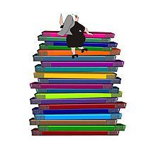 """Whimsical Nun Art """"Nun and Books"""" Photographic Print"""
