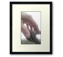 Light touch Framed Print