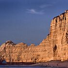 The Cliffs of Etretat at sunset by cclaude