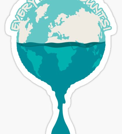 H2O *every drop counts Sticker