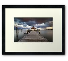 Roanoke Marshes Lighthouse - Manteo Lighthouse Outer Banks NC Framed Print