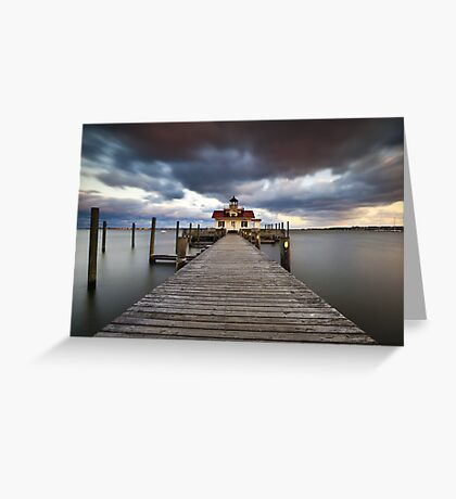 Roanoke Marshes Lighthouse - Manteo Lighthouse Outer Banks NC Greeting Card